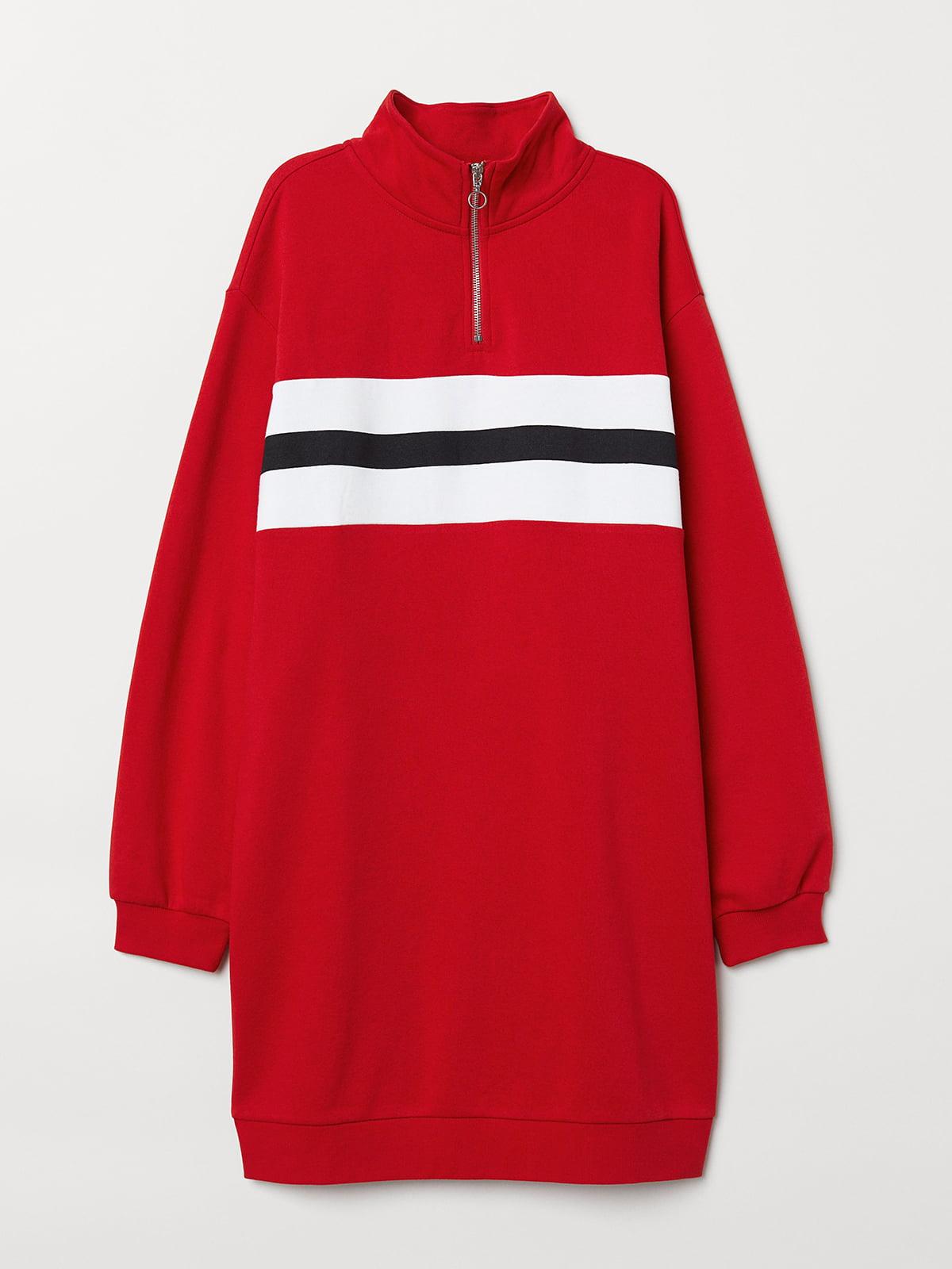 Сукня-толстовка червона | 5353000