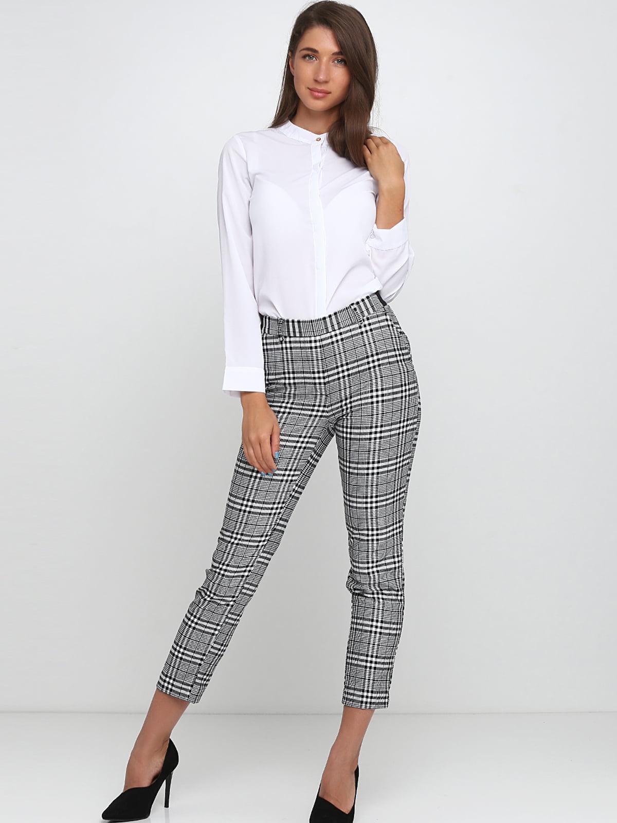 Штани чорно-білі | 5353018