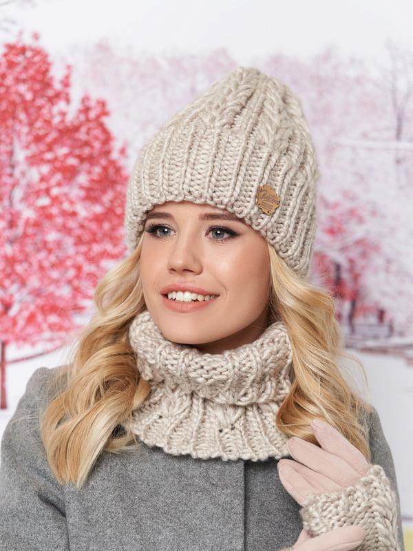 Комплект: шапка, шарф-хомут и перчатки | 5354602