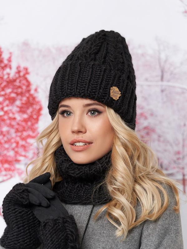 Комплект: шапка, шарф-хомут и перчатки | 5354603