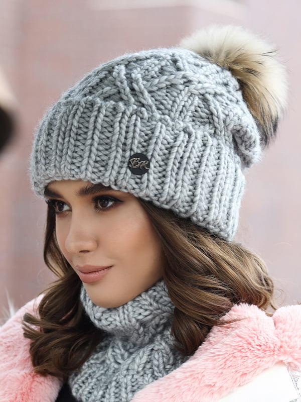 Комплект: шапка и шарф-хомут   5354613