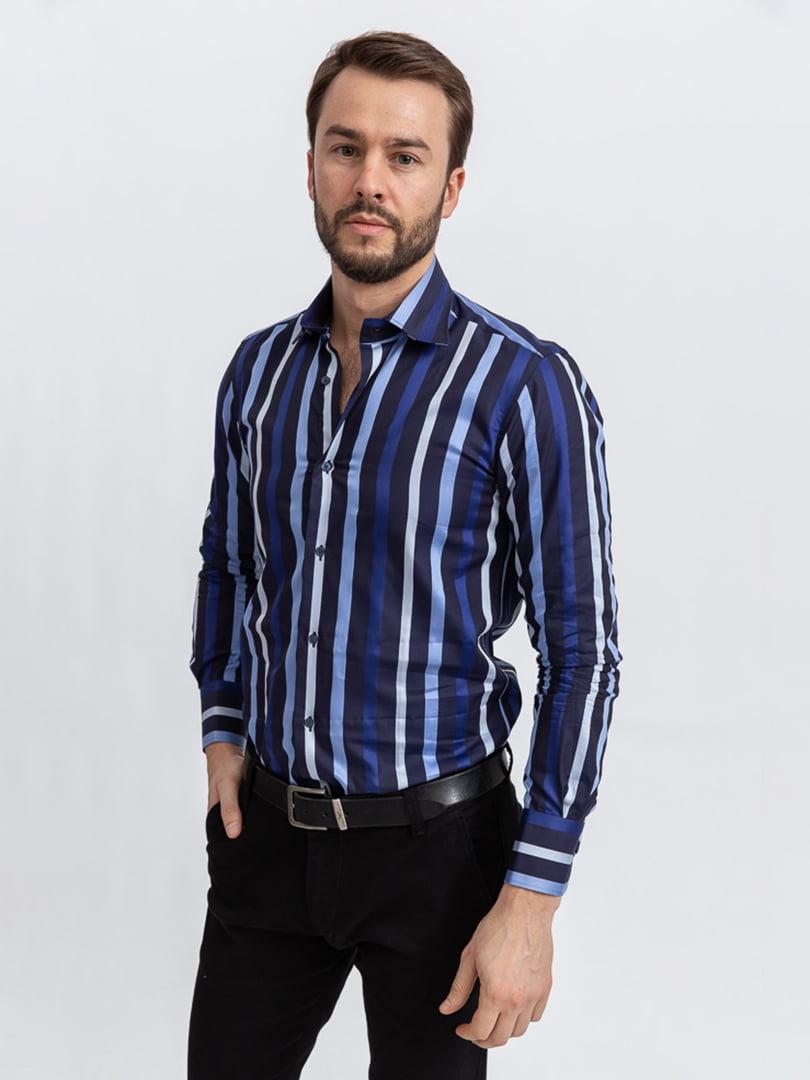Рубашка сине-голубая | 5356457