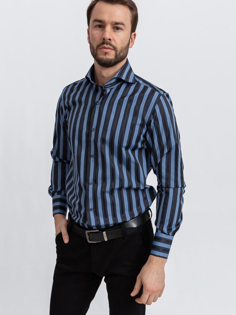 Рубашка черно-сизого цвета | 5356458
