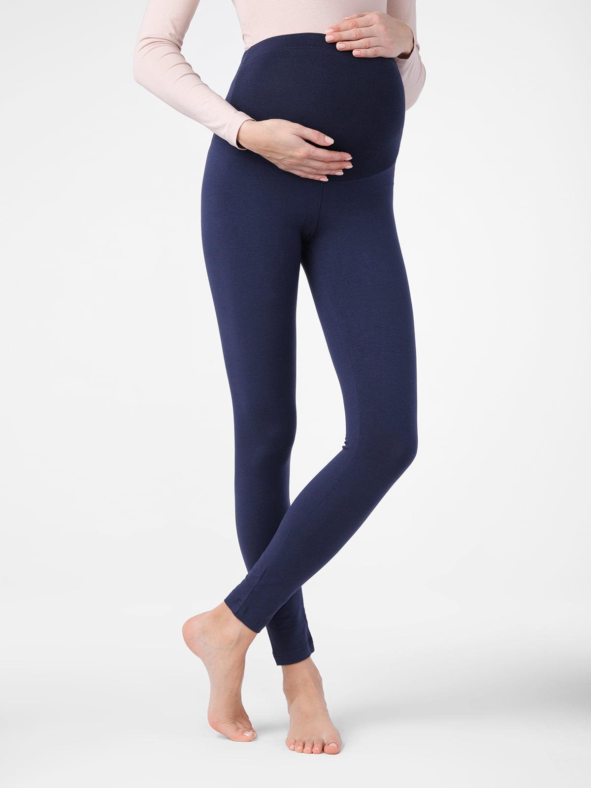 Леггинсы синие для беременных | 5355991