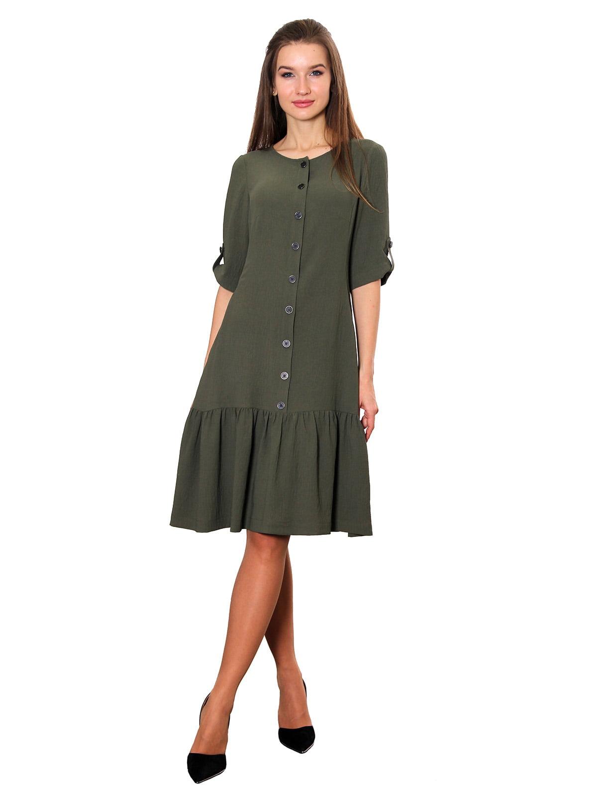 Платье цвета хаки | 5357955
