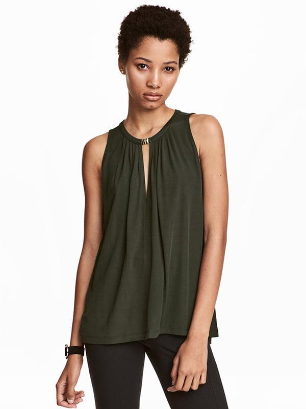 Блуза темно-зелена | 5358562
