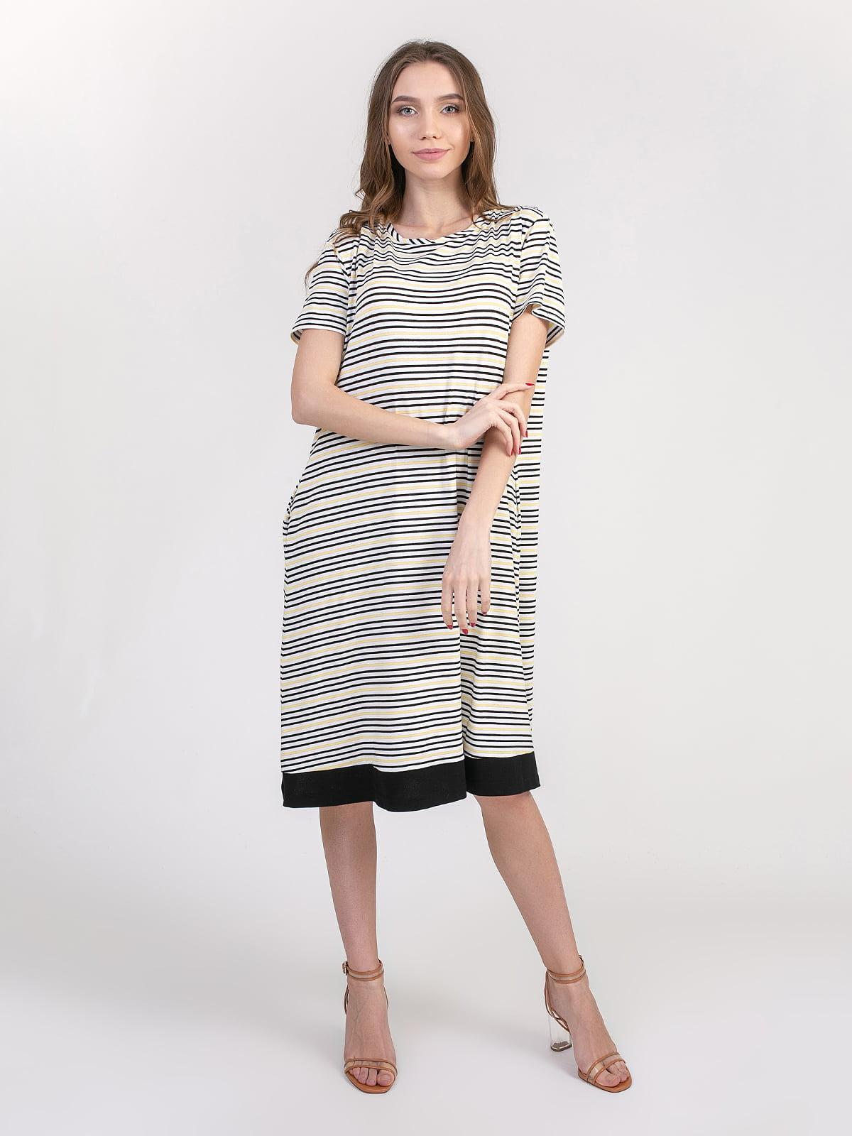 Сукня біло-жовто-чорна | 5347355