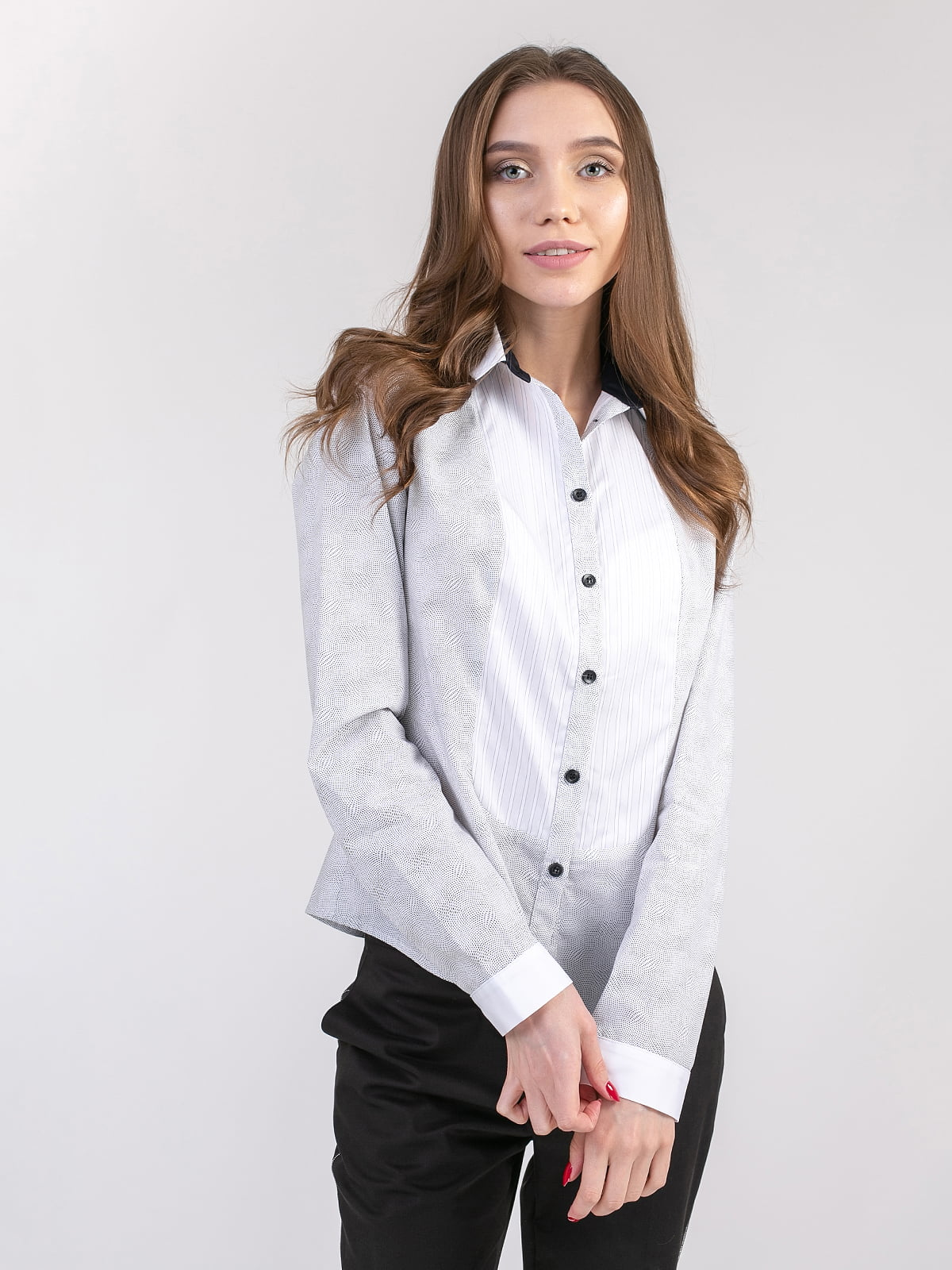 Блуза біло-чорна | 5347319