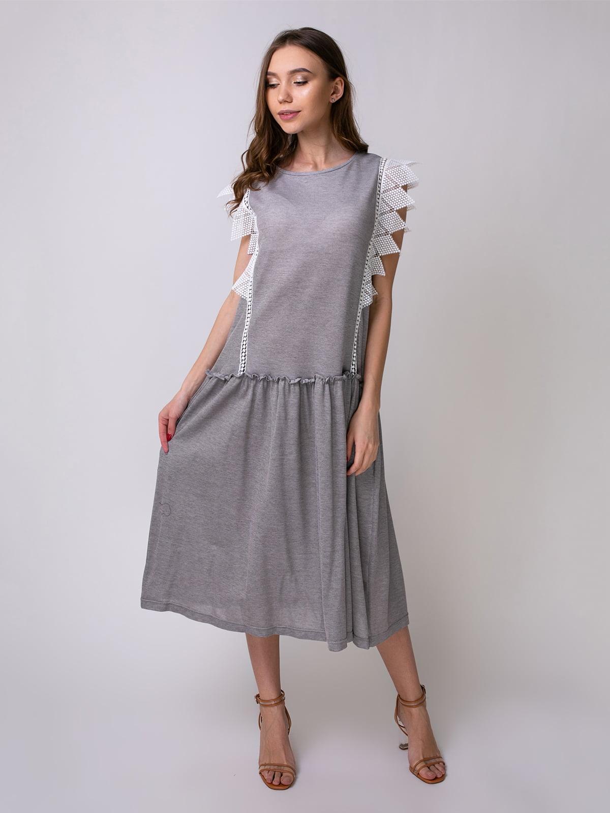 Сукня сіро-коричнева | 5357152