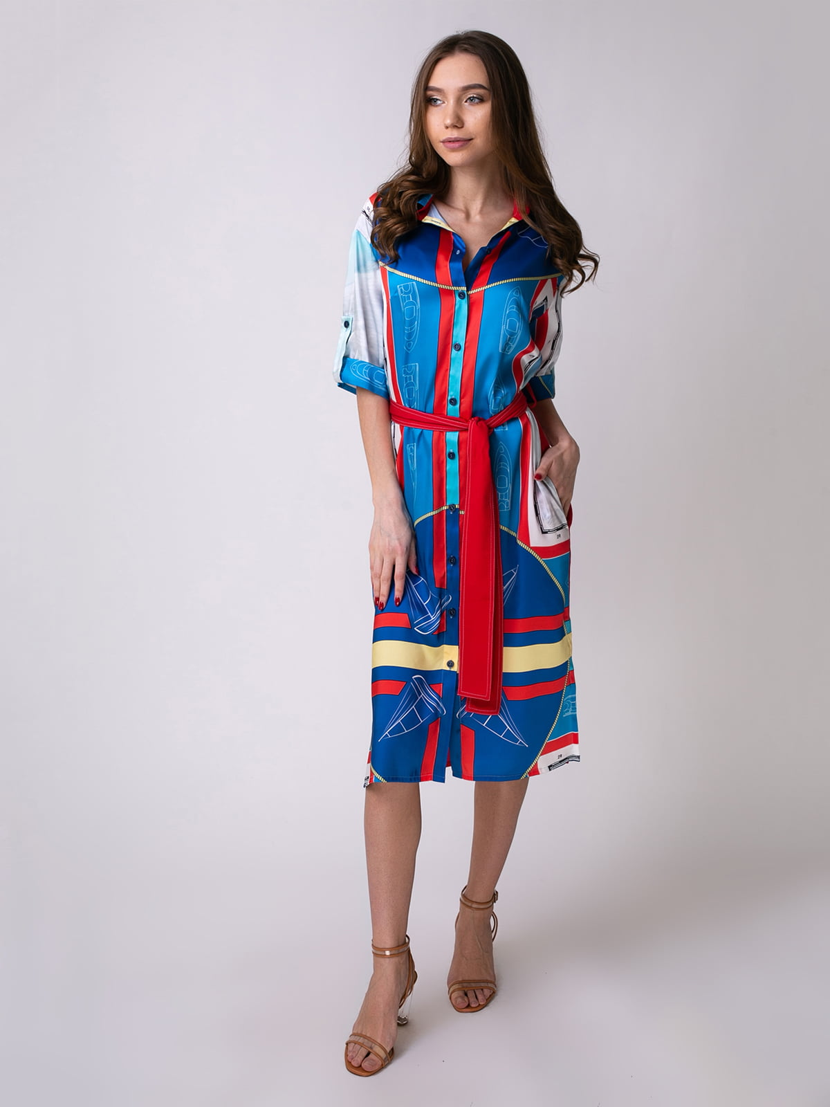 Сукня синьо-червона | 5358462