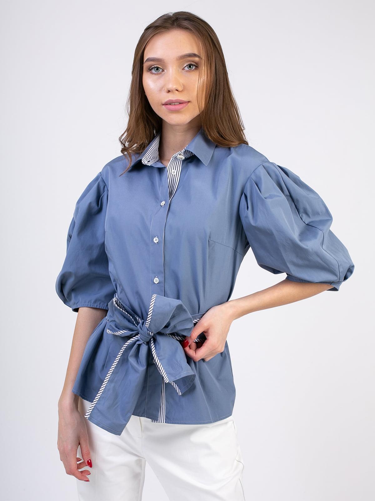 Блуза сіро-синя | 5352062
