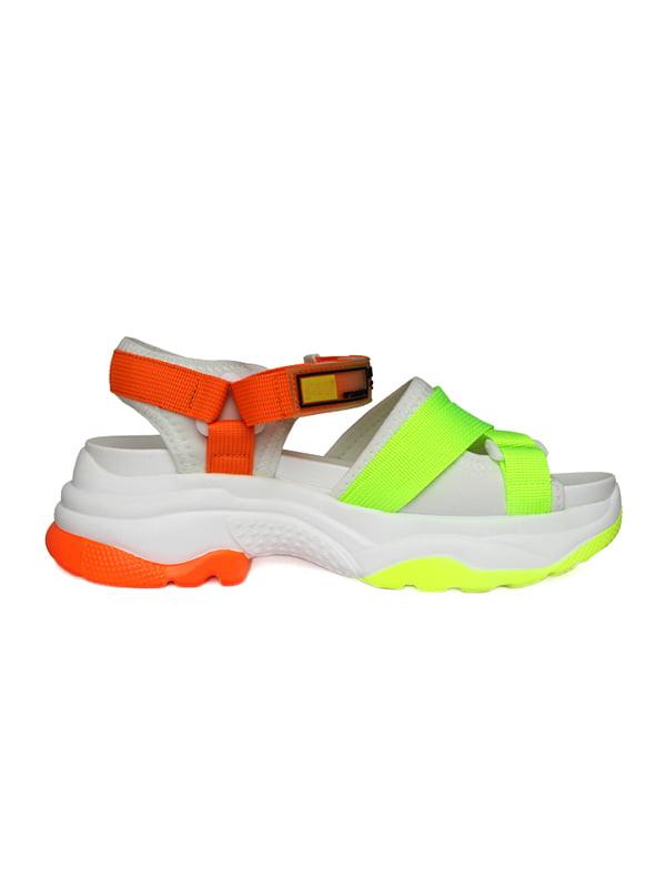 Босоножки оранжево-зеленые | 5345072