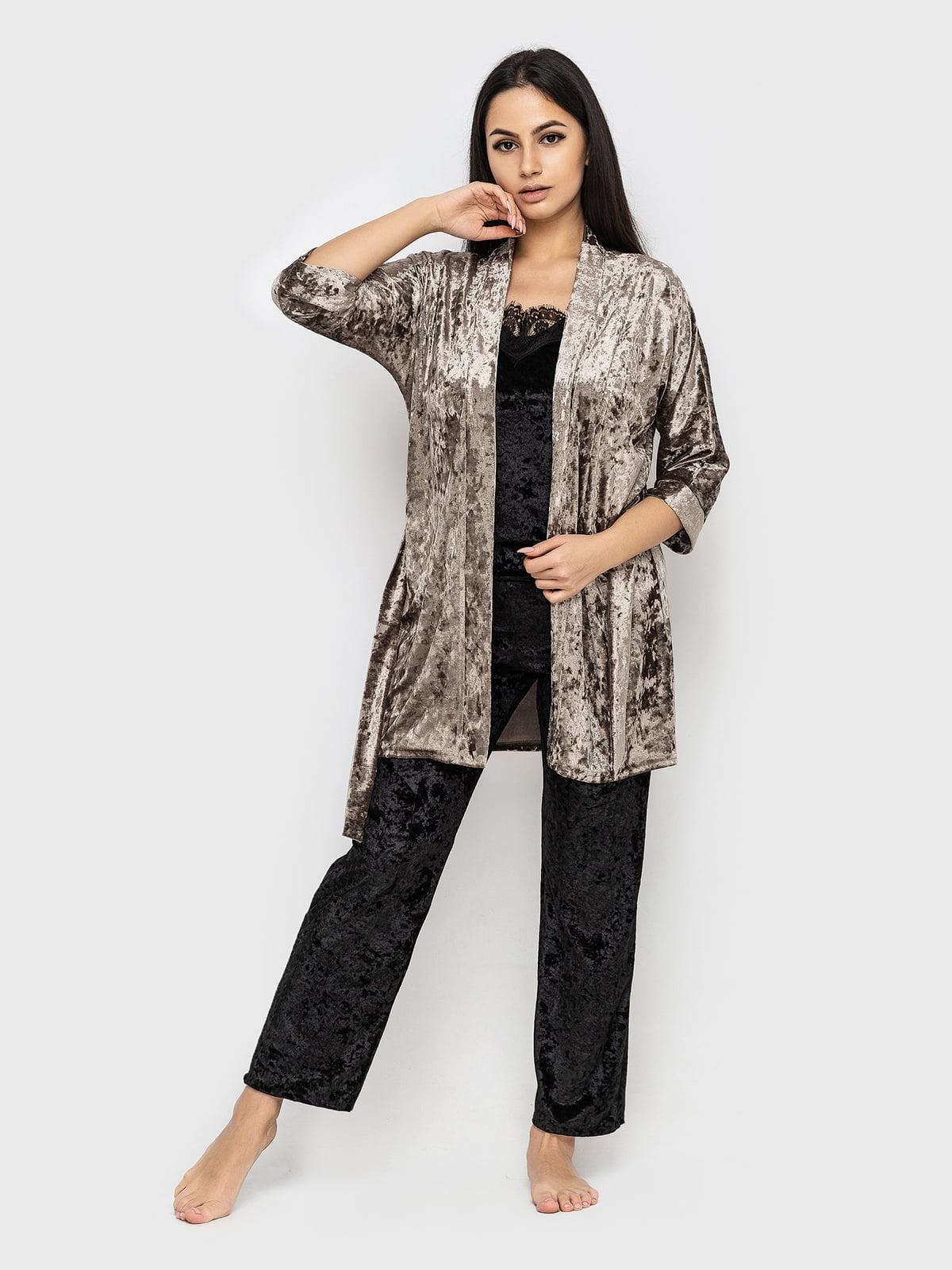 Комплект піжамний: майка, штани і халат   5363879