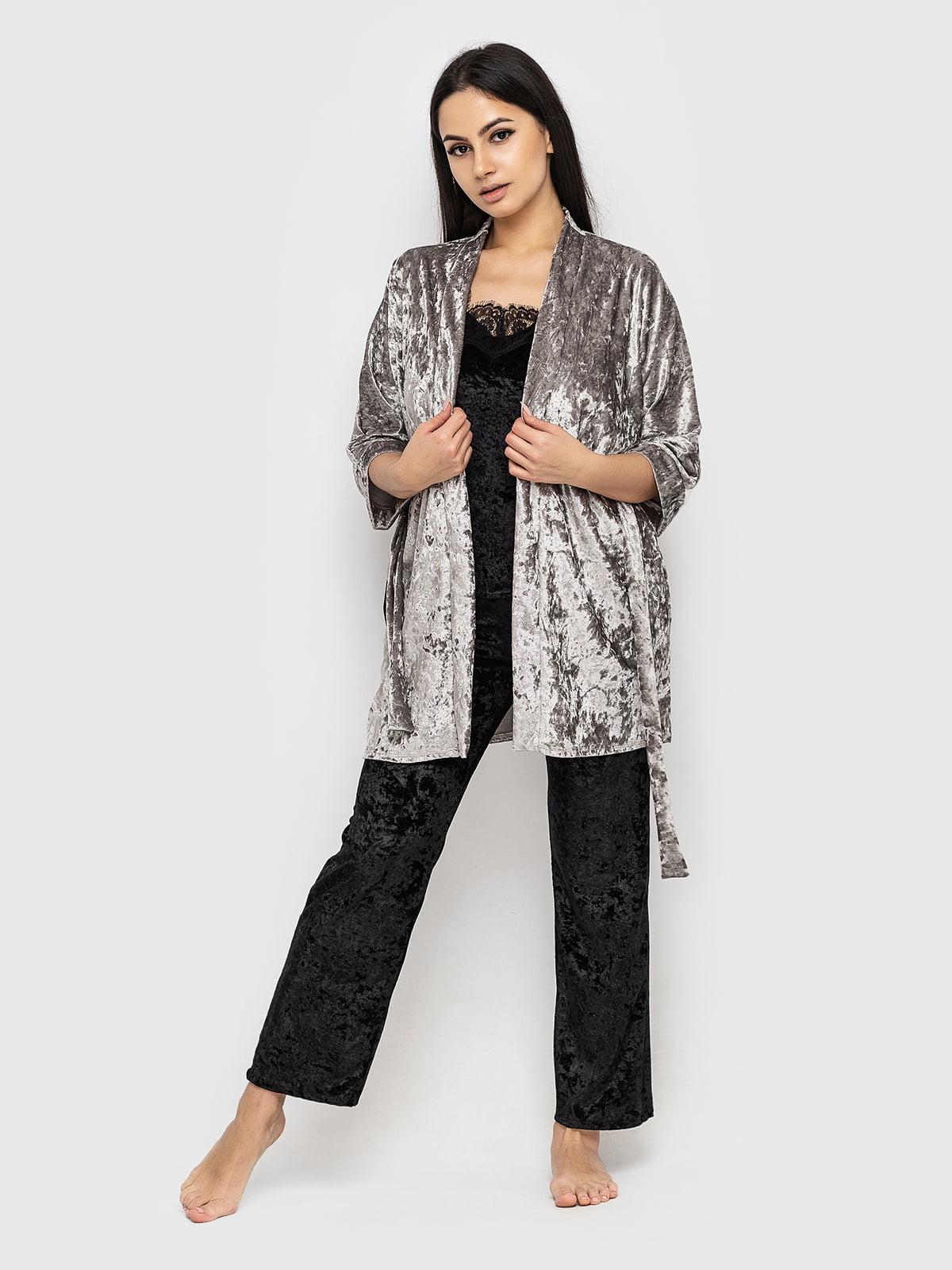 Комплект піжамний: майка, штани і халат | 5363894