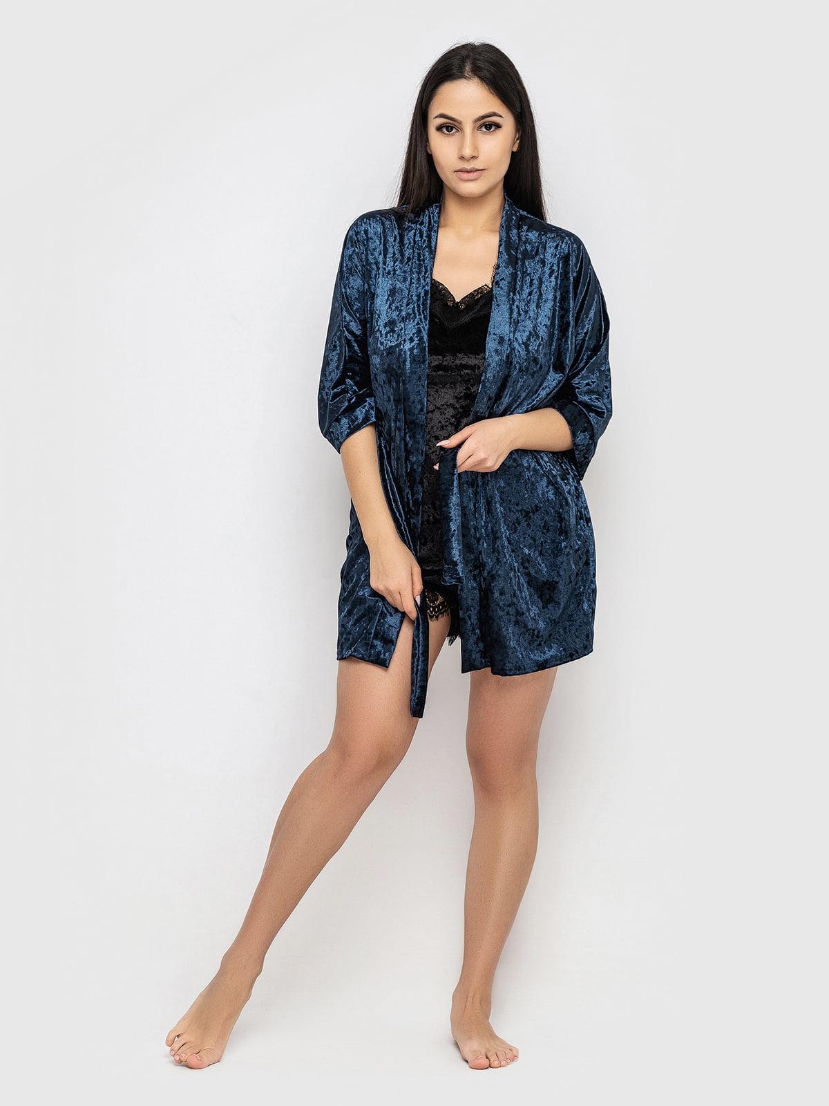 Комплект піжамний: майка, шорти і халат | 5363907