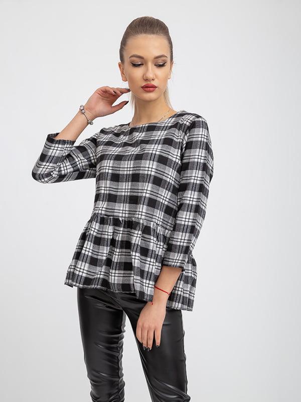 Блуза черно-белая   5364237