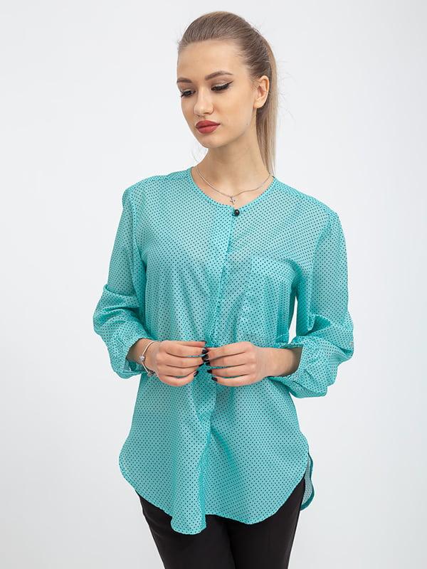 Блуза цвета мяты в горох | 5364242