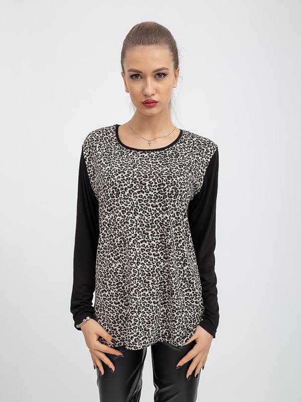 Джемпер с леопардовым принтом | 5364299
