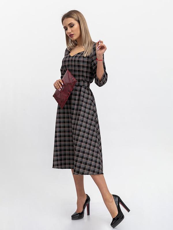 Платье черное в клетку | 5364370