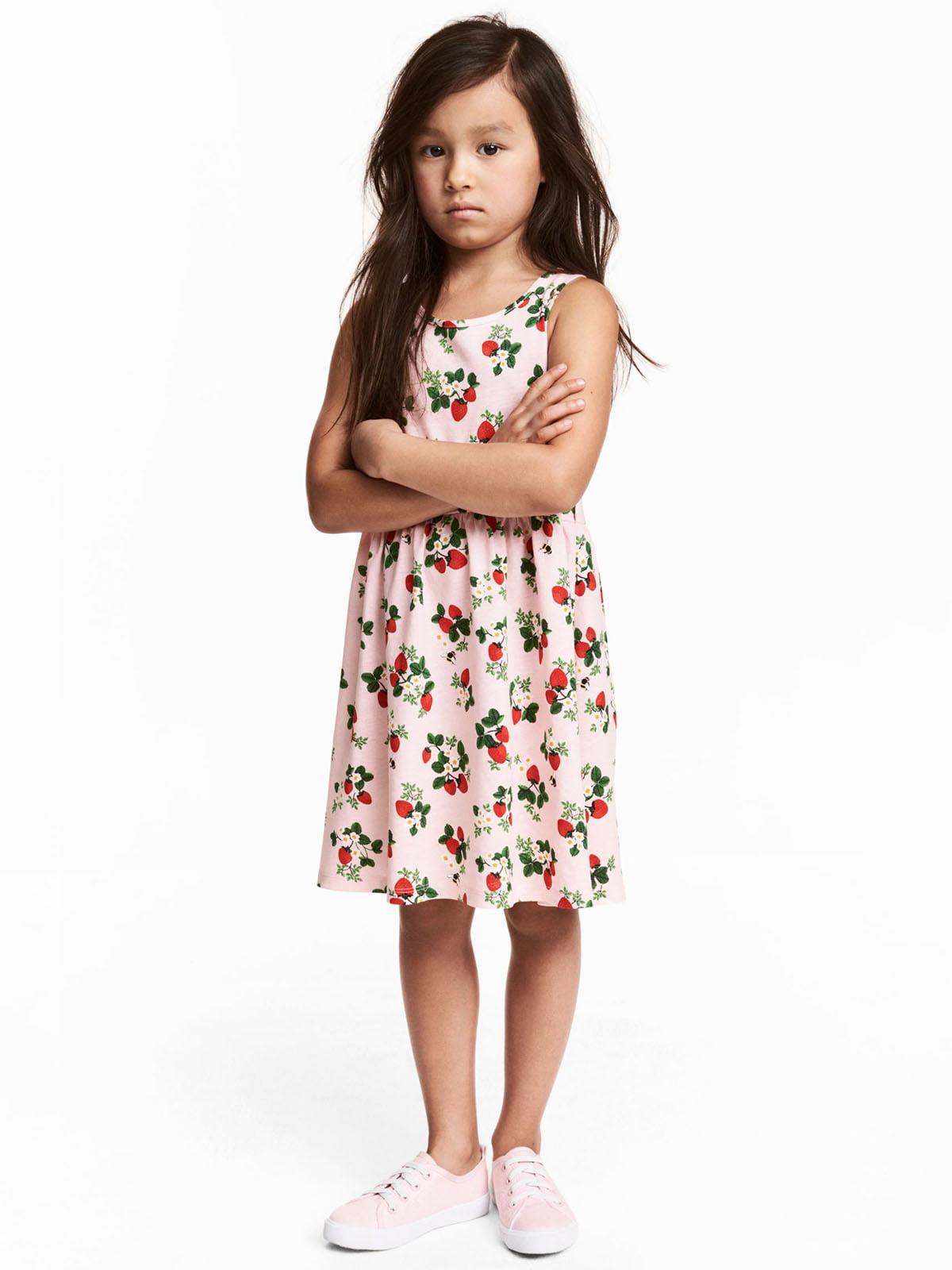 Сукня рожева з принтом   5364655