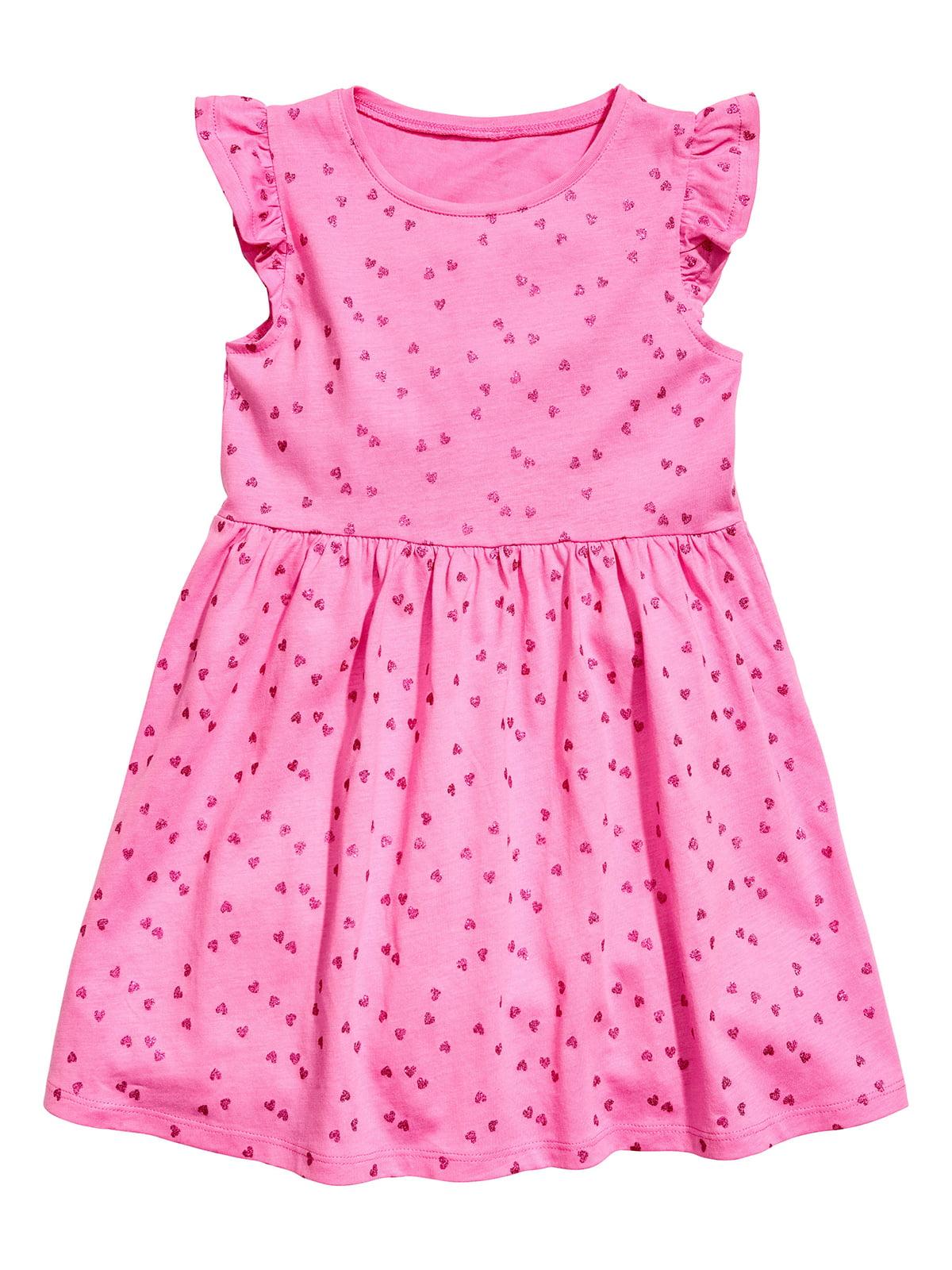 Сукня рожева з принтом   5364664