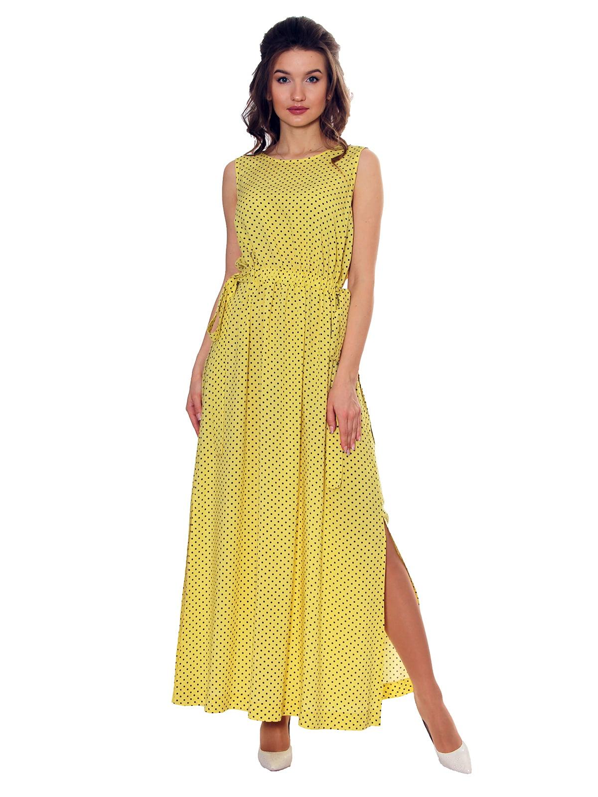 Платье желтое в принт   5366426