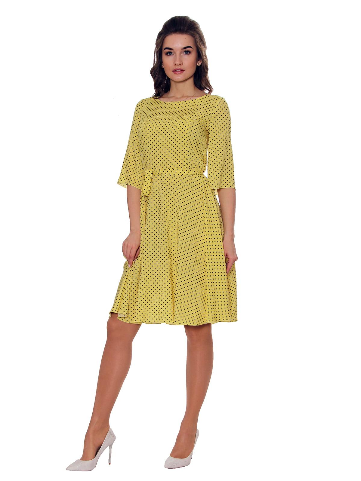 Платье желтое в горох   5366450