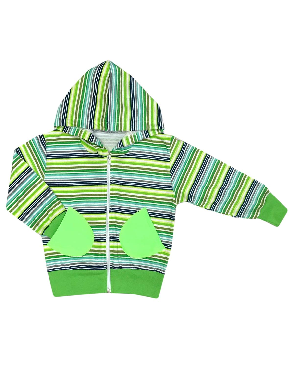 Толстовка зеленая в полоску   5366797