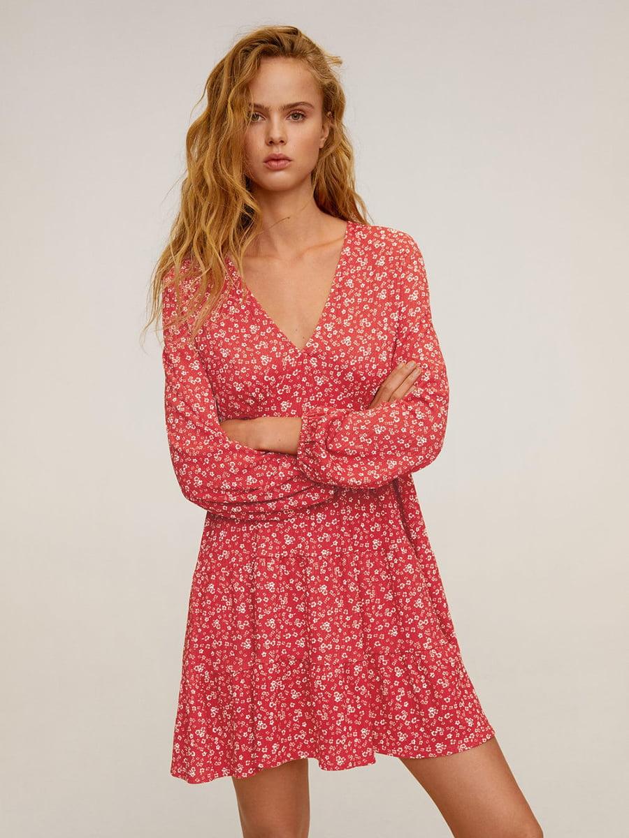 Сукня рожева у принт   5370037