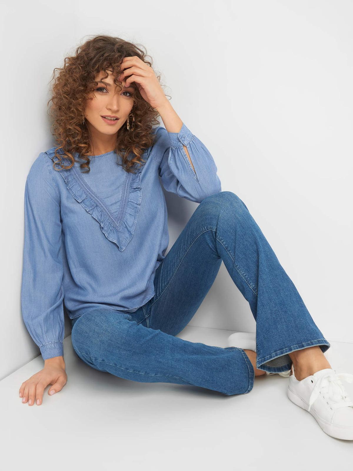 Блуза голубая джинсовая   5368854