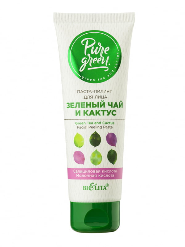 Паста-скраб для обличчя «Зелений чай і кактус» | 5374155
