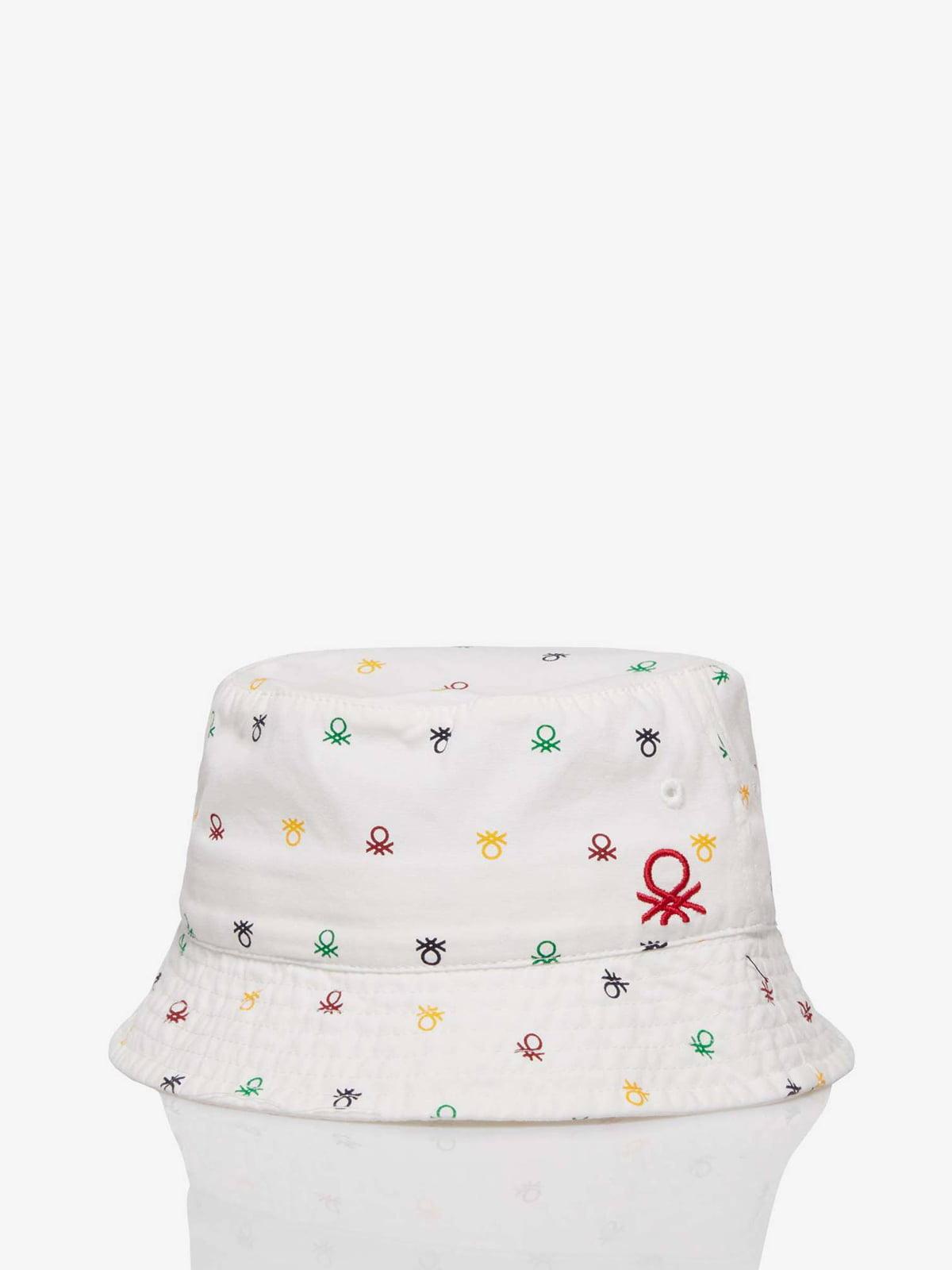 Шляпа белая с принтом   5371387