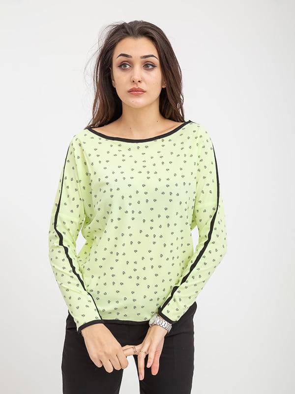 Блуза желтая в принт | 5374632
