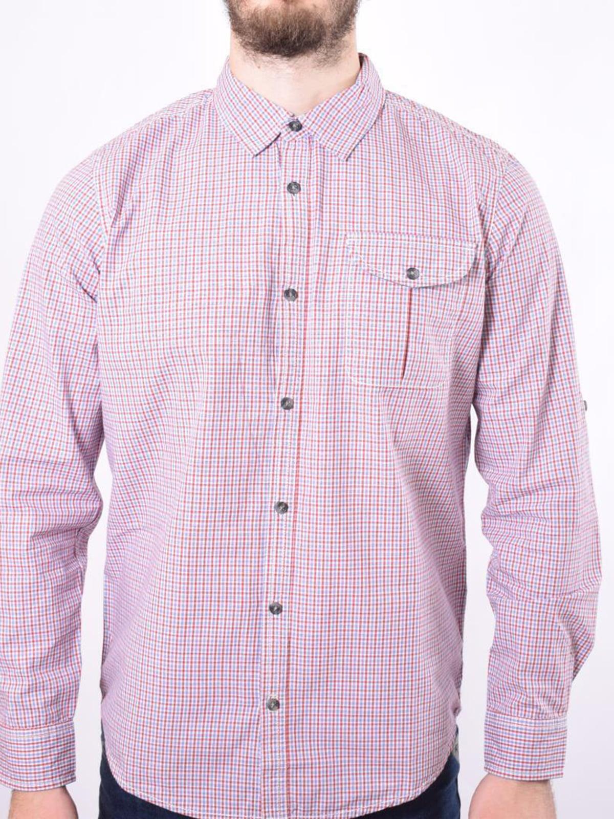 Рубашка розовая в клетку | 5369413