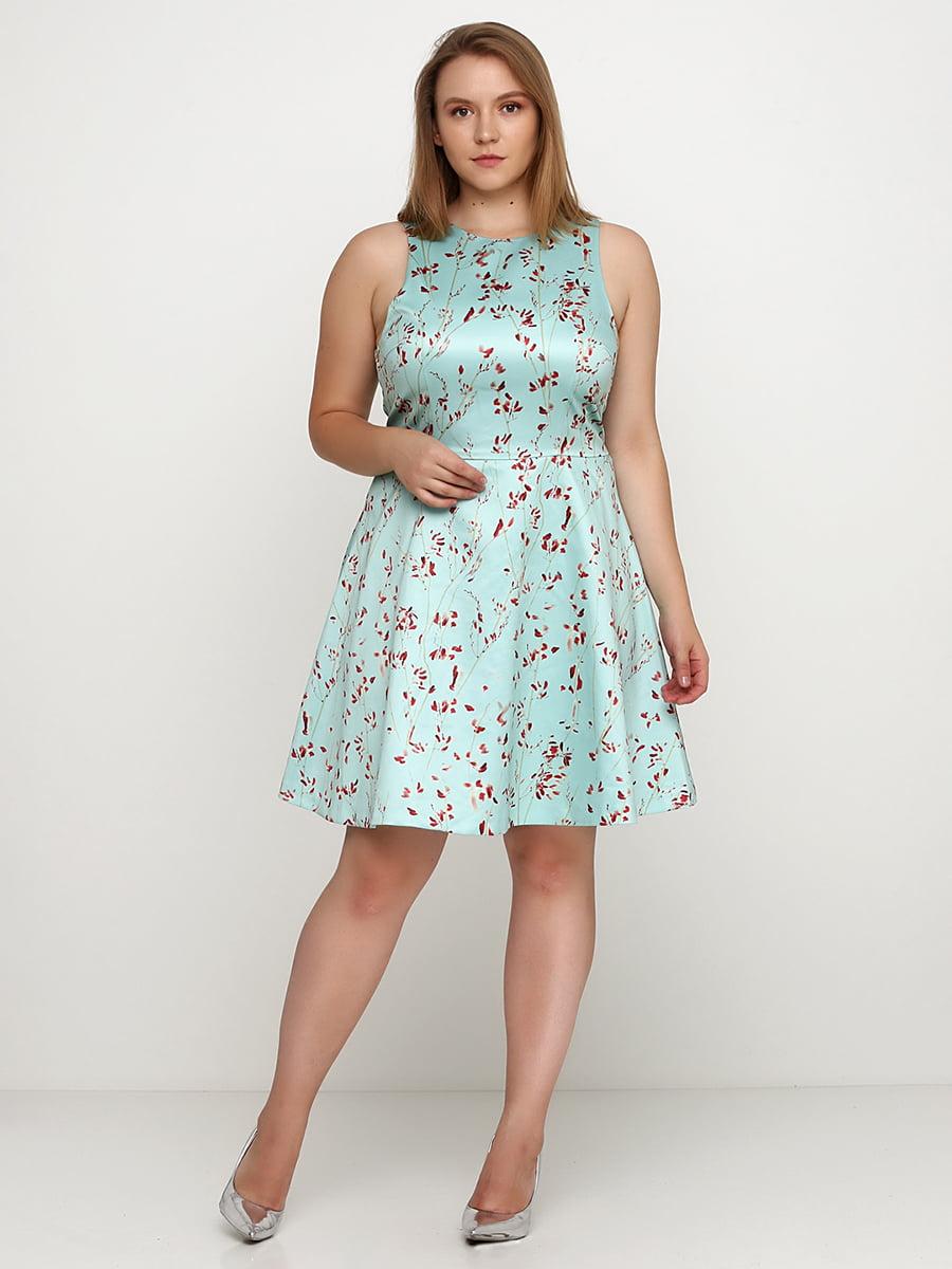Сукня бірюзова в принт   5375923