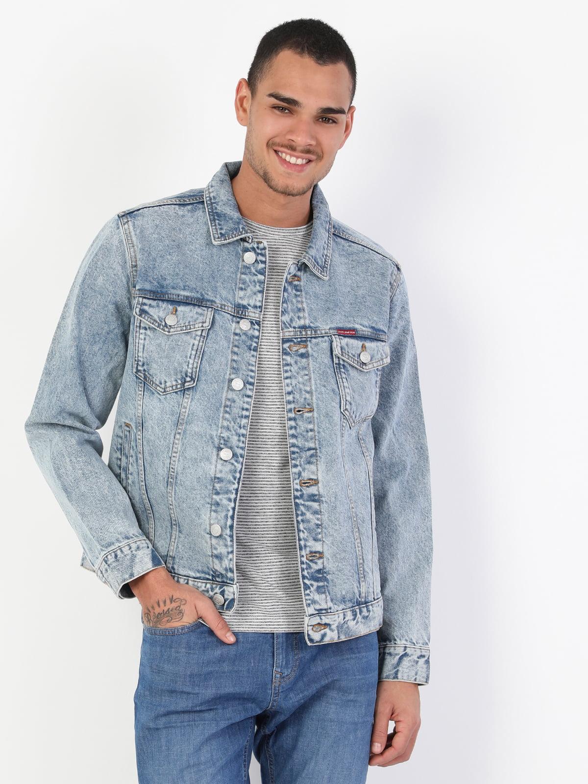Куртка джинсовая синяя | 5377255