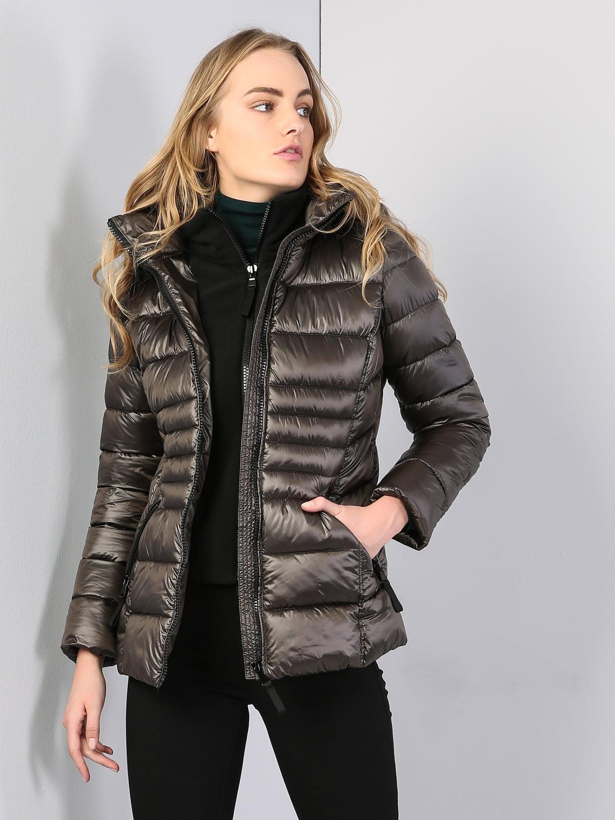 Куртка кольору хакі | 5376730