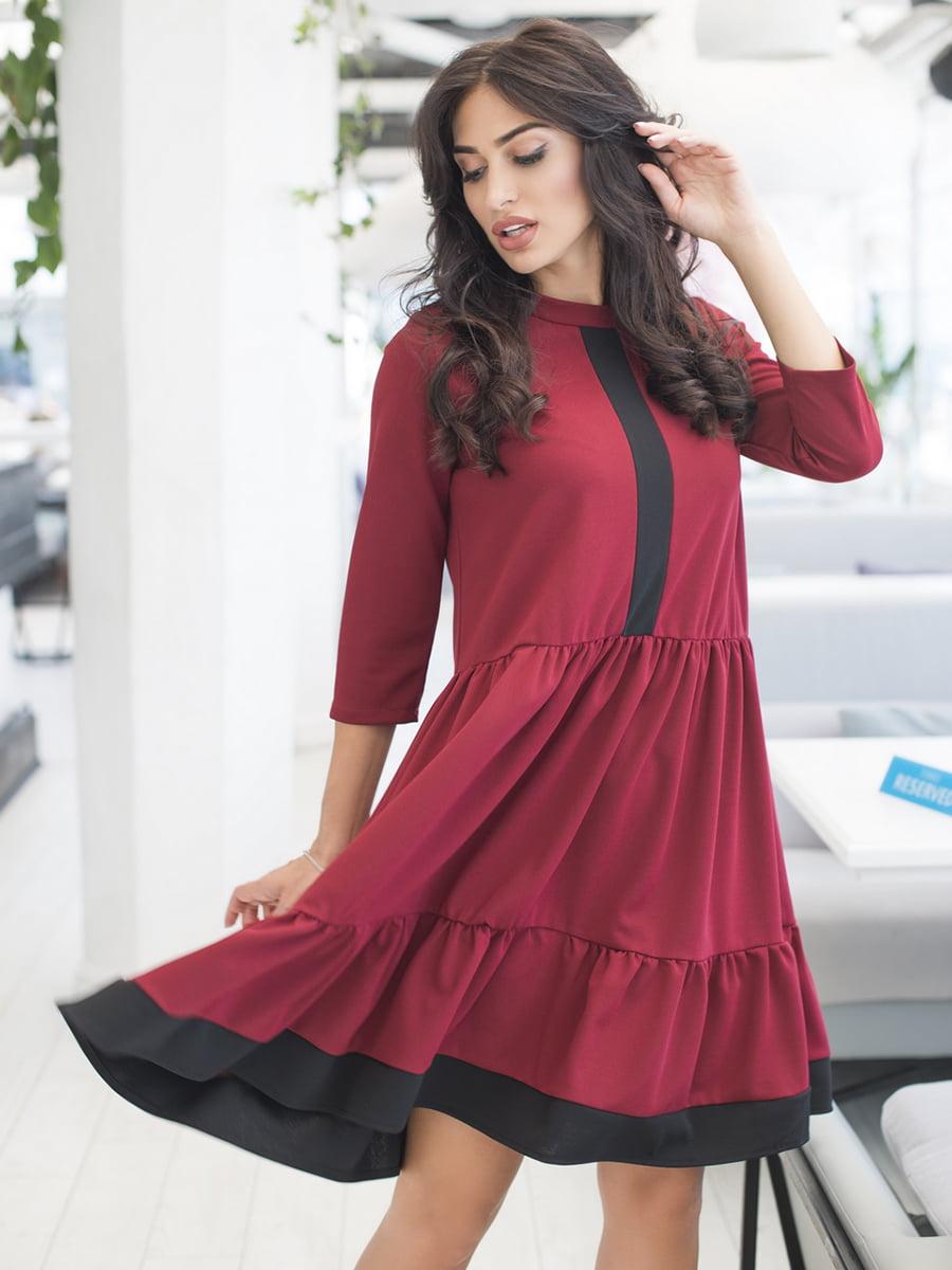 Сукня бордова | 5379858