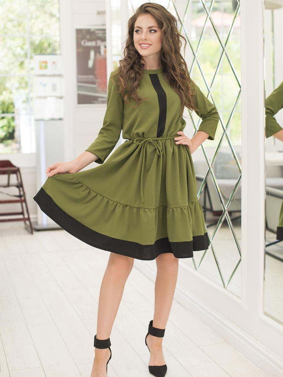 Платье цвета хаки | 5379861