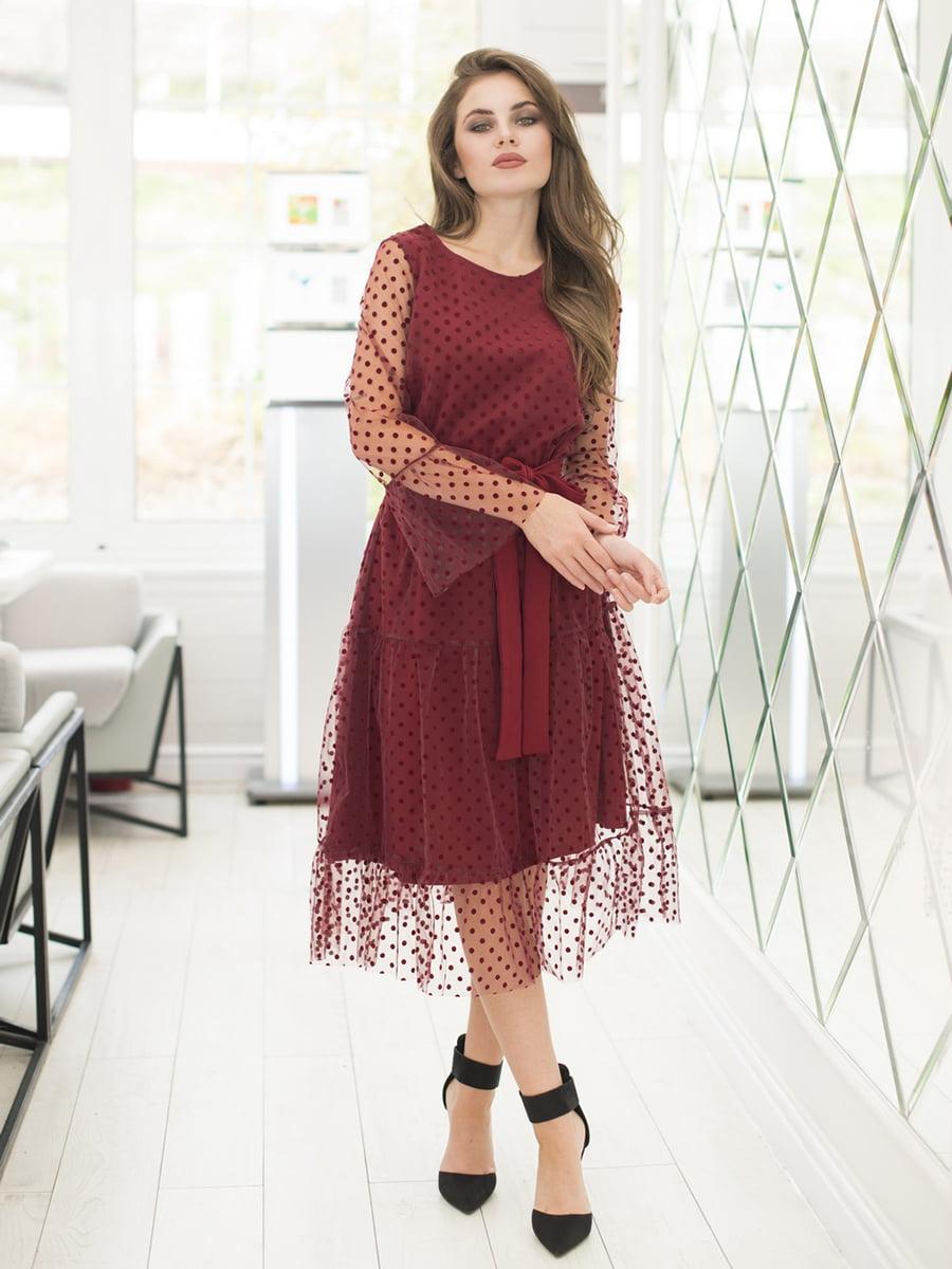 Платье бордовое | 5379862