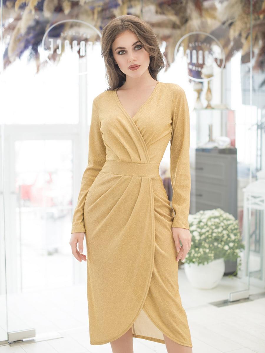 Платье золотистое | 5379874