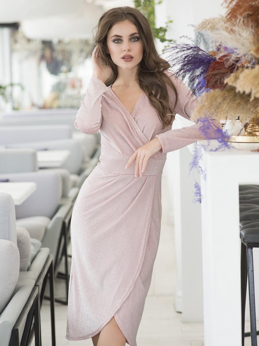 Сукня кольору пудри | 5379875