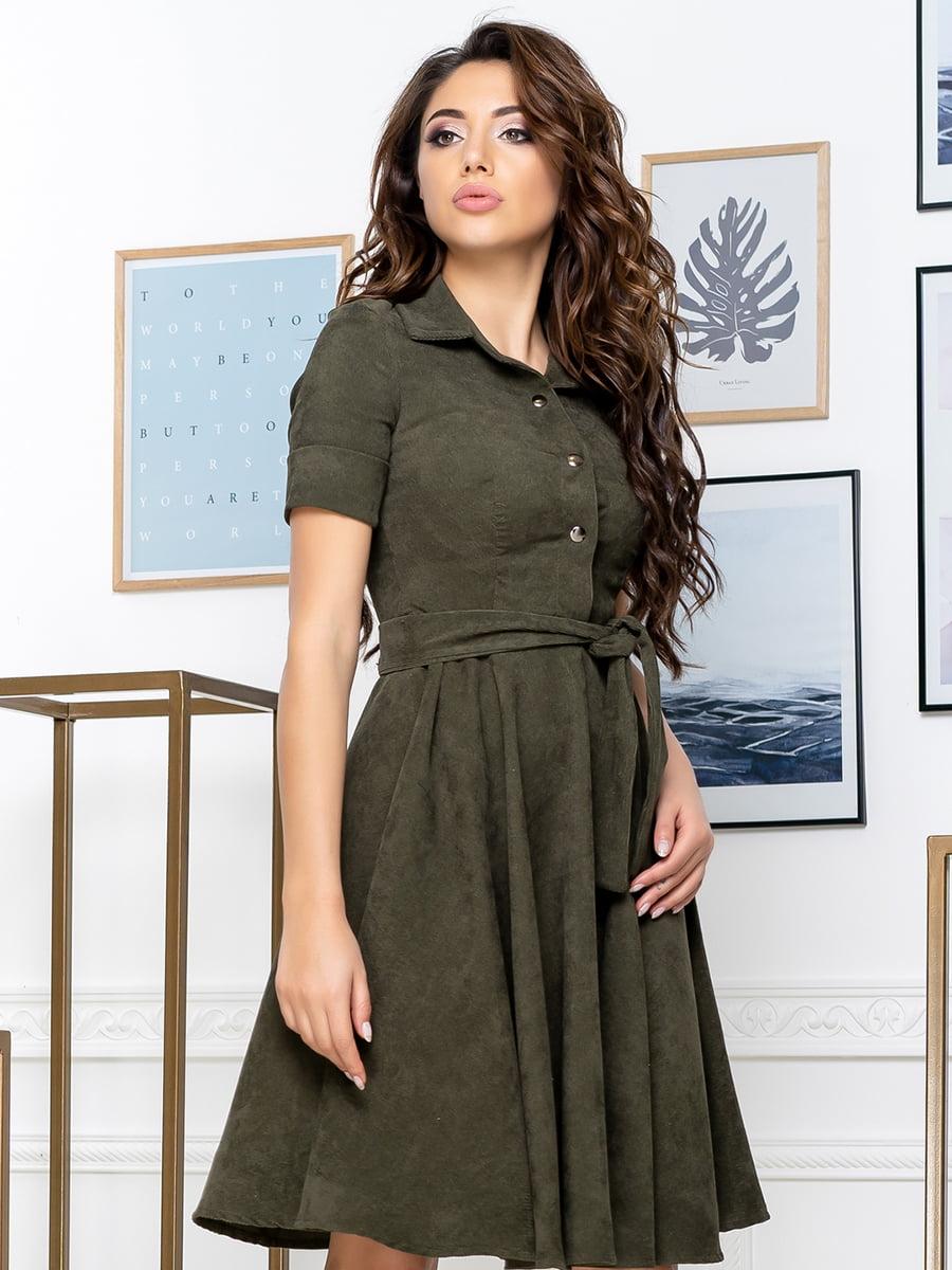 Сукня кольору хакі   5379890