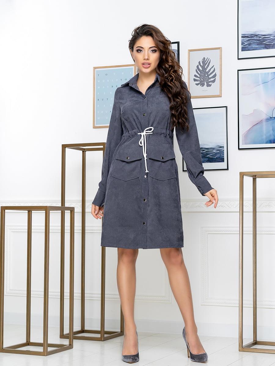 Платье серое | 5379893