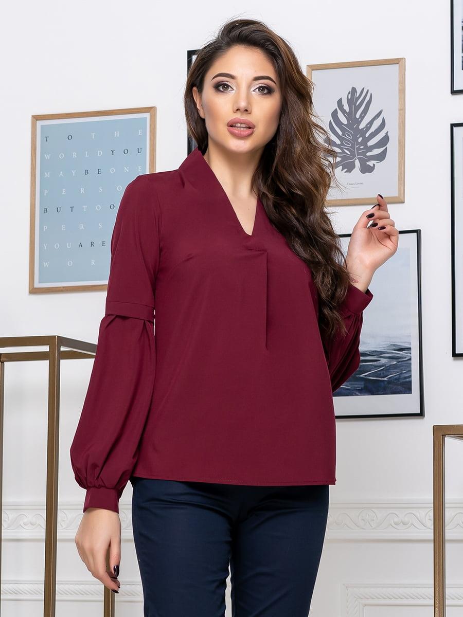 Блуза бордовая   5379915
