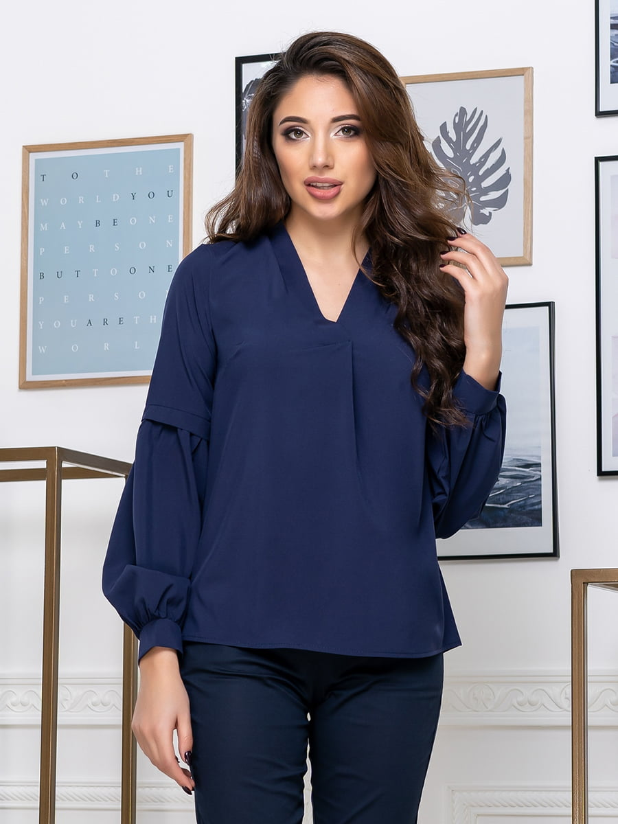 Блуза темно-синя | 5379918