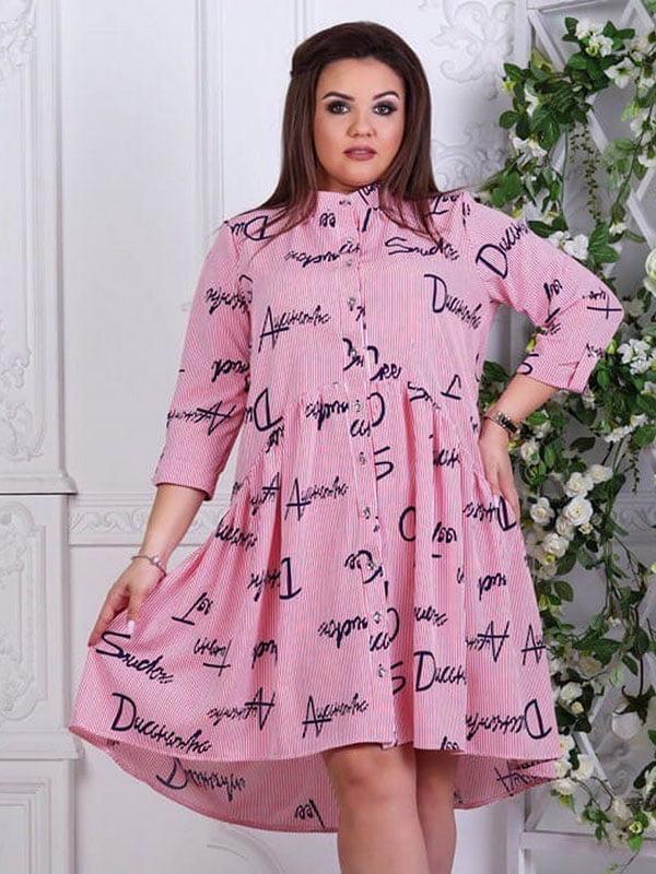Сукня в смужку з написами | 5383873