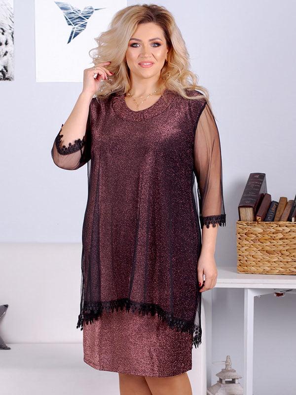 Платье бордовое | 5383902