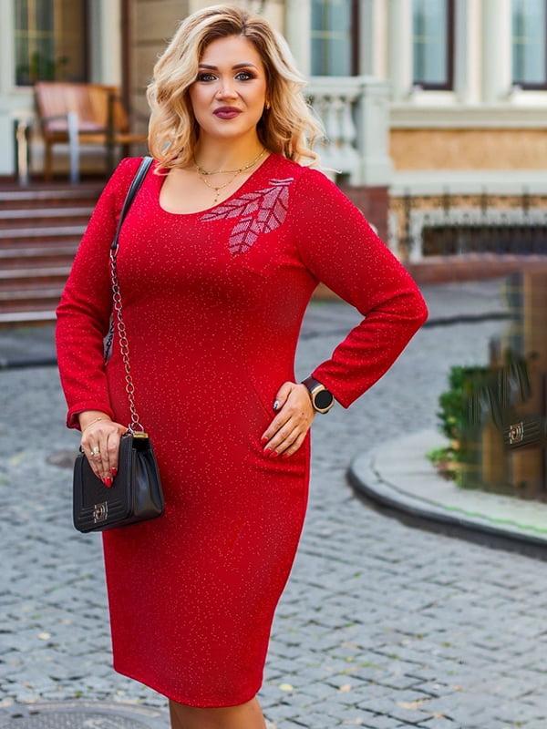 Платье красное с рисунком | 5383916