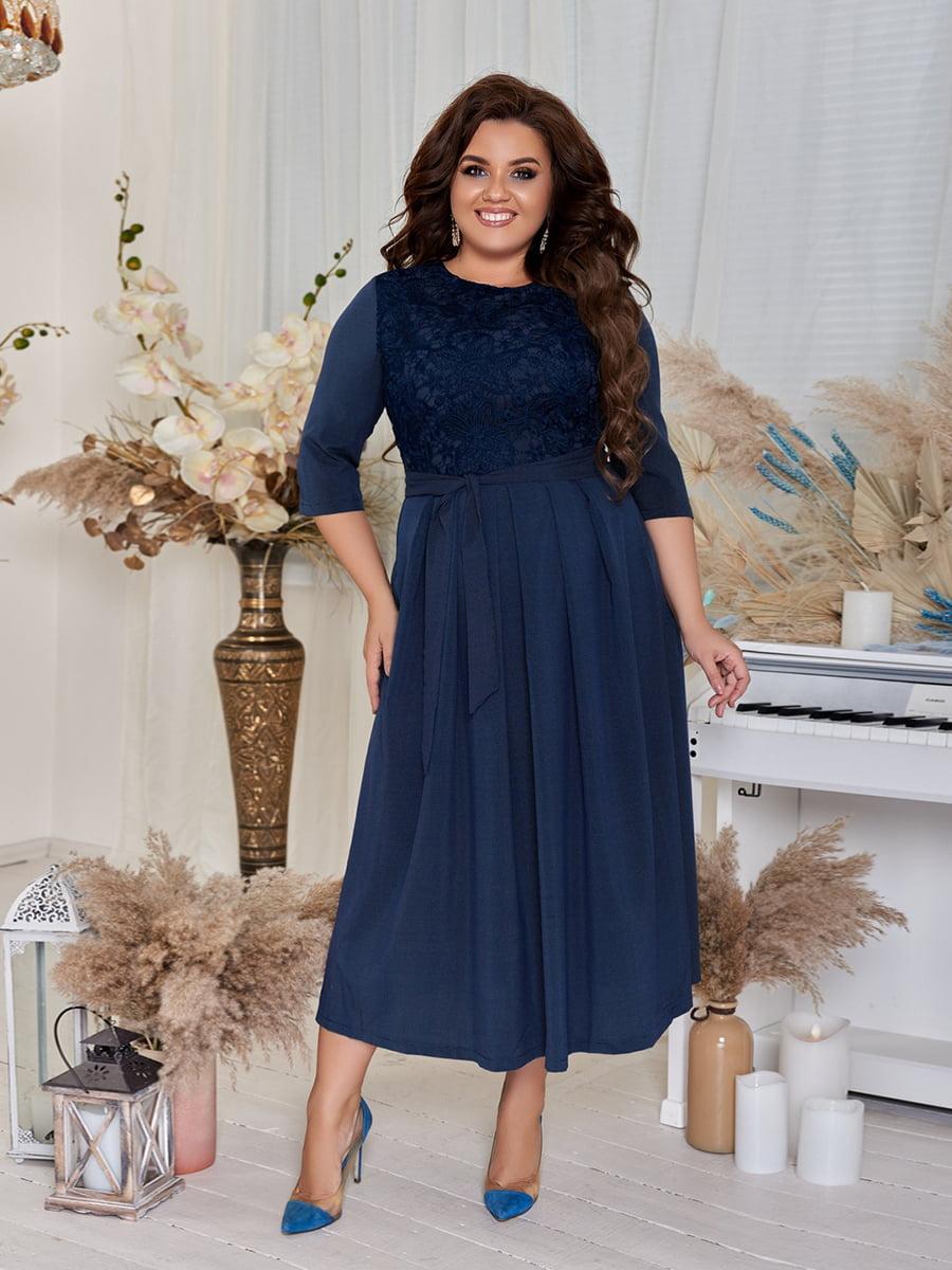 Сукня темно-синя | 5383947